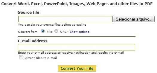 Mande a conversão diretamente para seu email