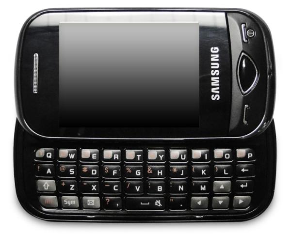 O aparelho e o teclado QWERTY