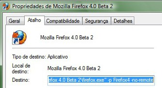 Como rodar o Firefox 3.6 e o Firefox 4 Beta simultaneamente 63051
