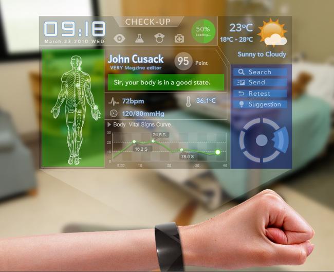 Que tal informações sobre sua saúde direto no pulso?. Fonte: Kingyo.