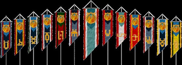 As bandeiras das 12 Colônias