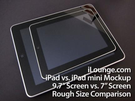 Rumor sobre o novo iPad mini.
