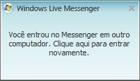 Mensagem do Windows Live Messenger