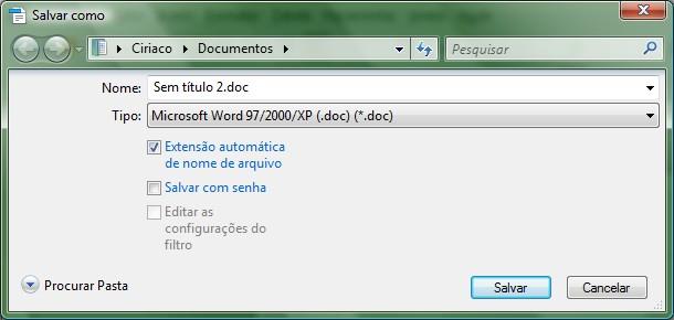 O processo no OpenOffice/BrOffice é semelhante