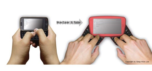 Visual do teclado.