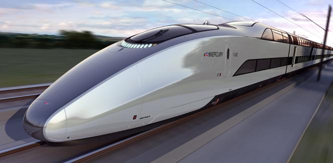O trem Mercury pode ser o novo ícone tecnológico do Reino Unido.