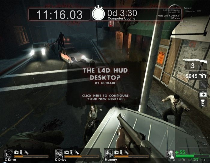 The Left 4 Dead HUD Desktop