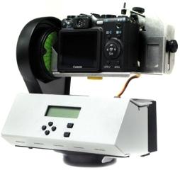 Modelo de GigaPan acoplado a uma câmera.