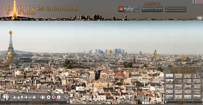 A bela Paris sob os olhares detalhados de bilhões de pixels.