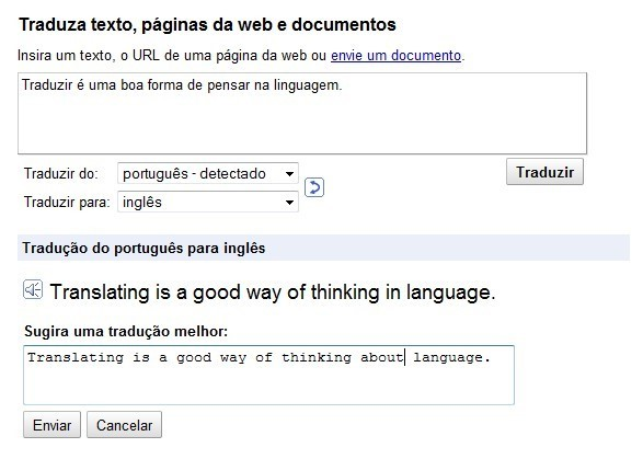 Melhore a tradução do Google