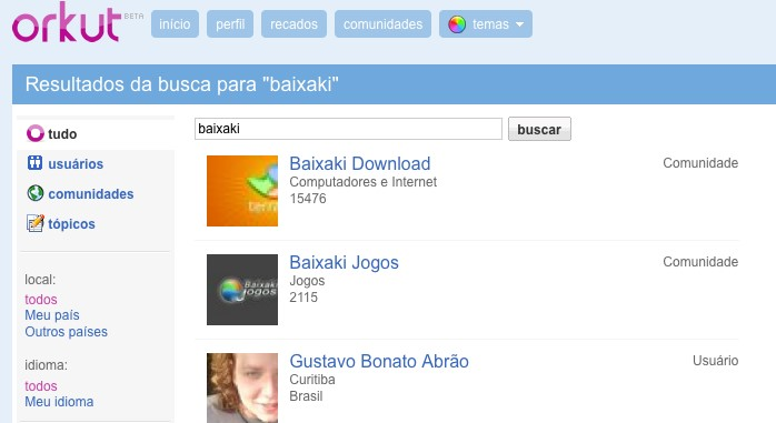 Busca Orkut