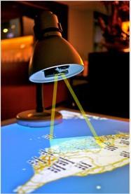 Lâmpada com projetor para melhorar experiência interativa dos usuários