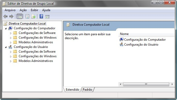Diretiva de grupo do Windows