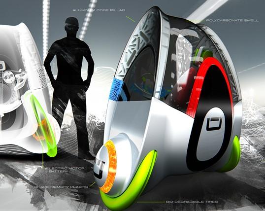 O conceito de um novo tipo de transporte pessoal urbano.