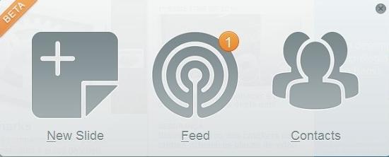 Crie um novo slide, acesse as mensagens enviadas e ainda encontre contatos