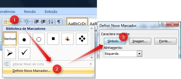 Use caracteres especiais como marcadores do Windows.