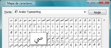 Símbolos específicos de vários idiomas são encontrados.