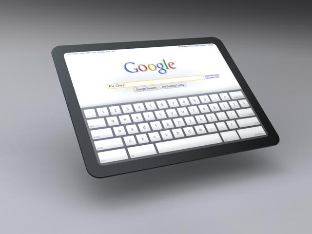 Imagem conceitual do tablet