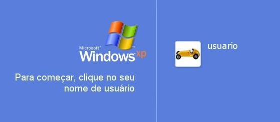 A famosa tela de boas-vindas do Windows.
