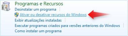 Ativar ou desativar os recursos do Windows