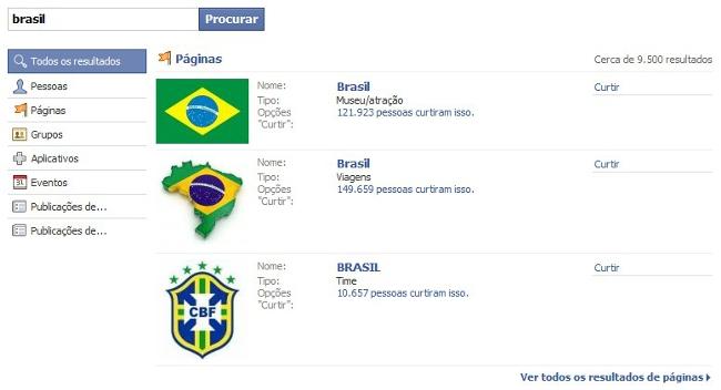Busca Facebook
