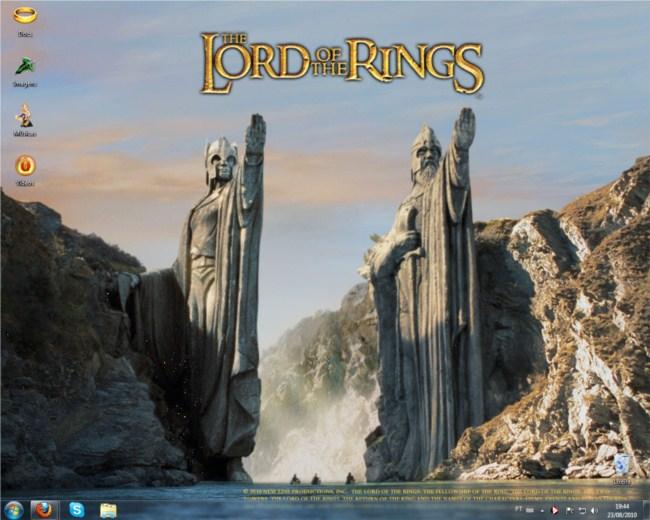 Desktop personalizado: Senhor dos Anéis