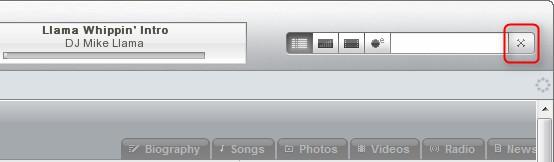 O botão para fechar o Winamp, camuflado.