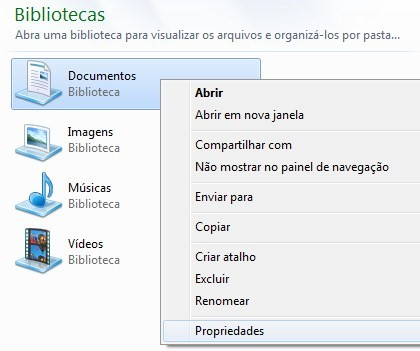 f8f78ba2a Dicas do Windows 7  como mudar a pasta padrão dos arquivos baixados ...