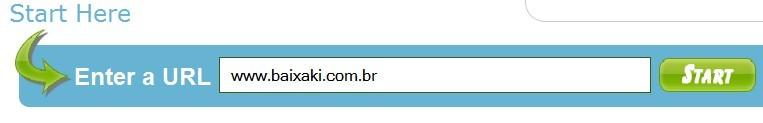 Preencha o endereço do site
