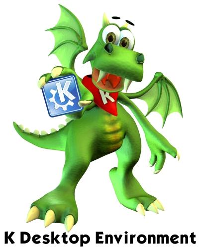 Konqi, o mascote do KDE