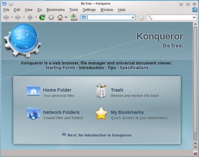 Konqueror, o navegador padrão do KDE, agora pode usar o Webkit!