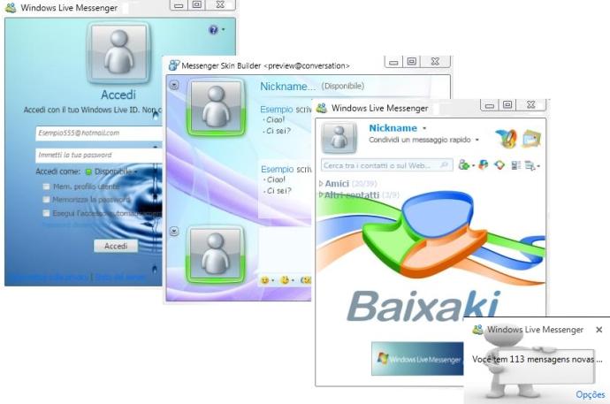 Tema com o estilo Baixaki