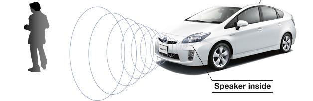Autofalante emite o som do motor