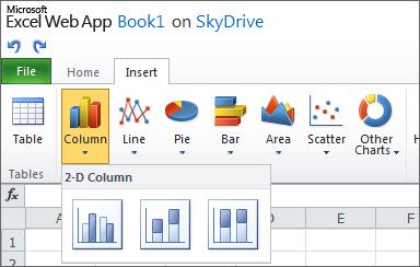 Mudanças no Excel