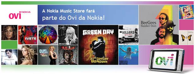 Nokia Music Store vai se tornar Ovi Música
