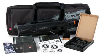 LAN bag e o invólucro no formato de rifle P-90
