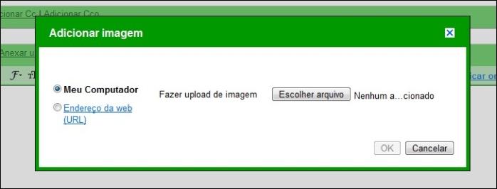 Escolha para enviar do seu PC ou de uma URL.