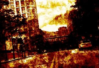 Imagem em chamas.