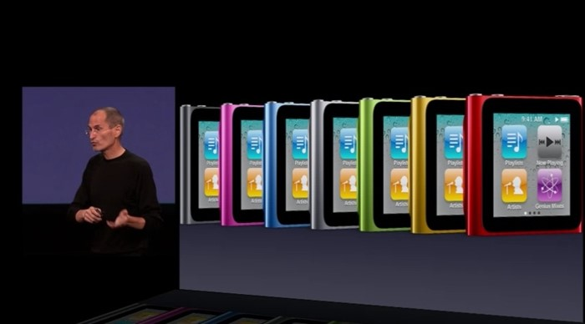 Várias cores no Nano