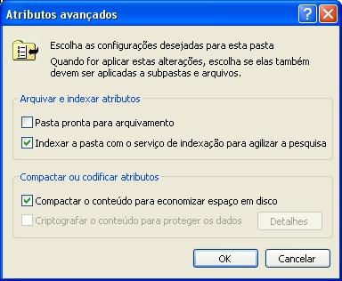 Habilite a compactação de arquivos