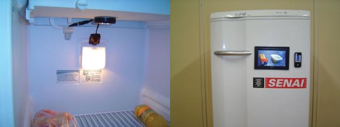 A geladeira com câmera.