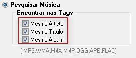 """Para encontrar músicas duplicadas, use o campo """"Pesquisar Música""""."""