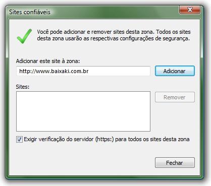 Crie listas de sites confiáveis e restrutis