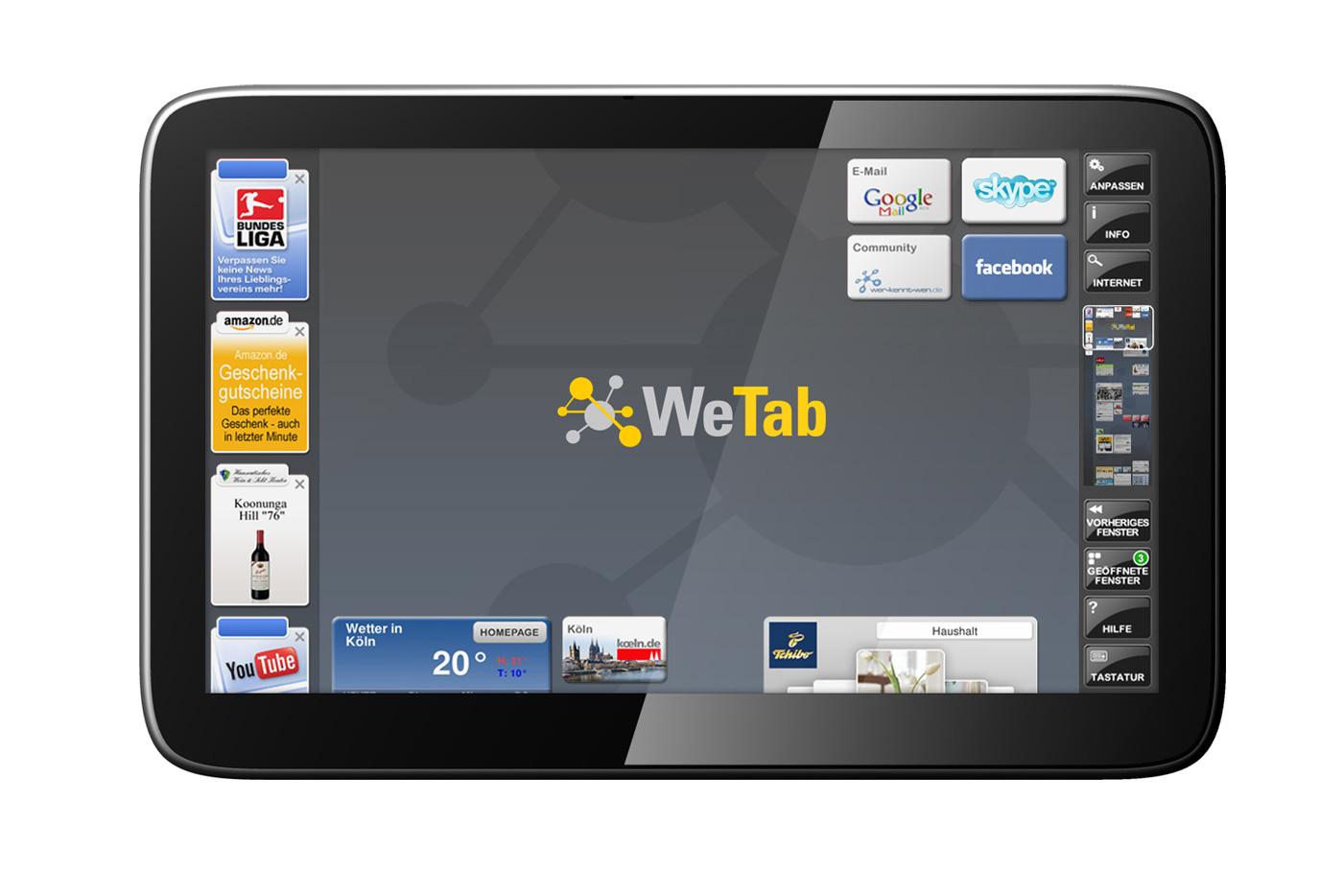 Tablet alemão com suporte para Flash