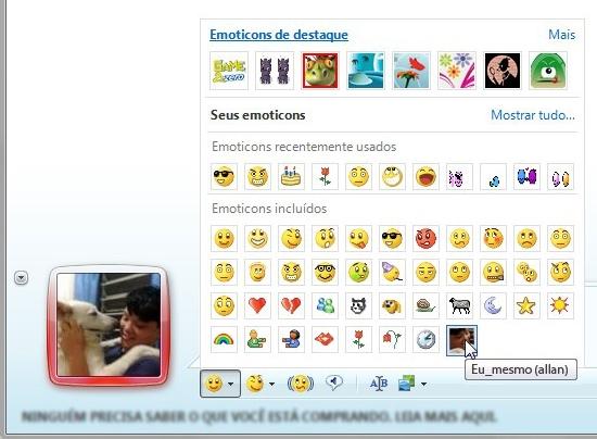 Criar emoticons nunca foi tão fácil.