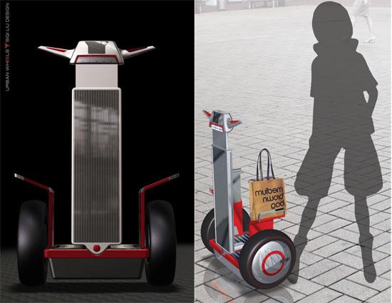 O novo carrinho é prático e ecológico.