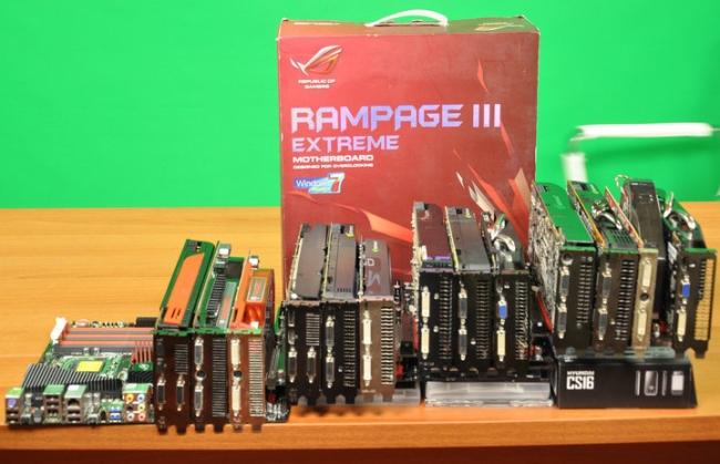 Nova Asus Rampage III Extreme permite conectar 13 placas de vídeo ao mesmo tempo 19175