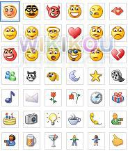 Os supostos novos emoticons divulgados pelo Wikikou.