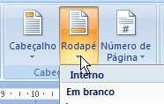 Escolha o rodapé do documento