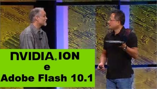 Presidente da NVIDIA demonstrando o poder do ION
